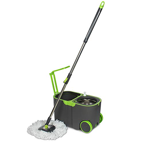 WOTRA Standard Prime Spin Bucket mop with Easy Wheels for Magic 360 Degree Cleaning and 3 Refills