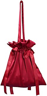 TOOGOO Pleated Fringed Drawstring Handbag Ladies Pu Leather Shoulder Bag Ladies Fashion Messenger Bag Red Wine