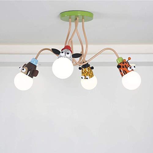 Kinderzimmerlampe Deckenlampe E27 Kinderlampe Pendelleuchte Retro Vintage Eisen Deckenleuchte Modern Jungen Mädchen Schlafzimmer Hängeleuchte Kinderzimmer Schule Cartoon Design Leuchte