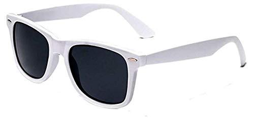 Boolavard® Nerd Sonnenbrille im Wayfarer Stil Retro Vintage Unisex Brille - 45 Modelle wählbar (Weiß Tönung)