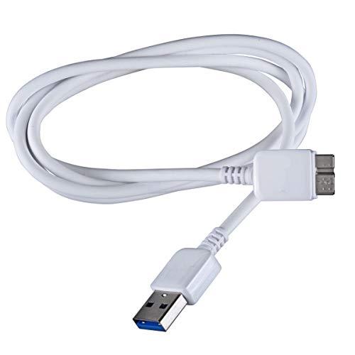 Q.M.R Direct Ladekabel/Datenkabel für Samsung Note 39000& Samsung Galaxy S5(weiß), Micro-USB 3.0, Originalteil