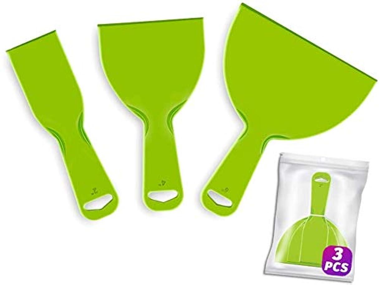 ジャンク必要性ラテンプラスチックパテナイフセット、梱包用の柔軟なプラスチックペイントスクレーパーツール、壁紙スクレーパープラスチック、ヘラスクレーパー、スパックルツール