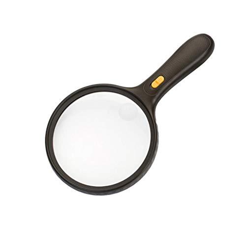 Goquik Handheld Magnifier Portable Illuminated Magnifier Lighting Beste Extra grote loep voor lezen en inspectie ABS-kunststof, acryl optische lens 277 * 150 * 30mm