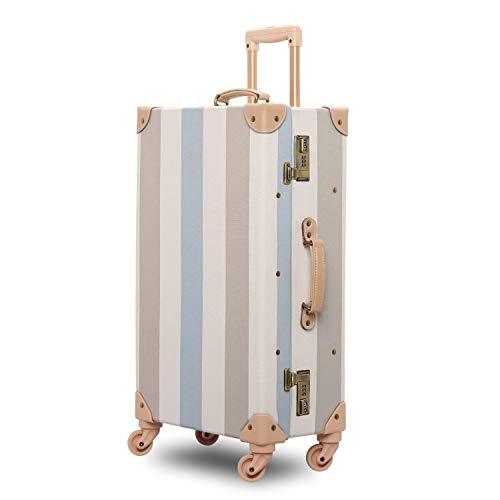 GSAGJlgx Vintage Koffer Set Carry On Suitcase for Damen (Size : 20 inch)