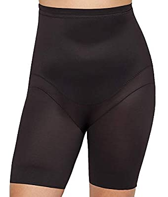 Miraclesuit Shapewear Women's Plus Size Extra Firm Control High-Waist Thigh Slimmer Black 2X