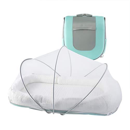 Lit pliant pour enfants Voyage lit pour enfants Lit portable lit pliant lit lit bionique moustiquaire lit pour enfants Lit d'enfant cadeau de voyage pour femme ( Color : GREEN , Size : 100*50CM )