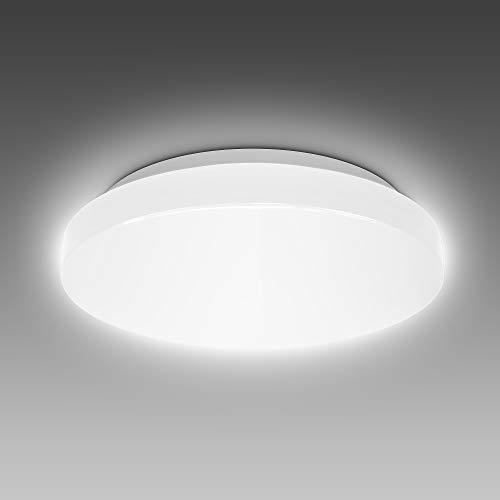 B.K.Licht 10 Watt LED Badezimmerlampe I IP44 Spritzwasserschutz I 4000K neutralweiße Lichtfarbe I 900lm Helligkeit I LED Deckenleuchte I Badlampe I LED Deckenlampe I Größe: S I Ø22cm