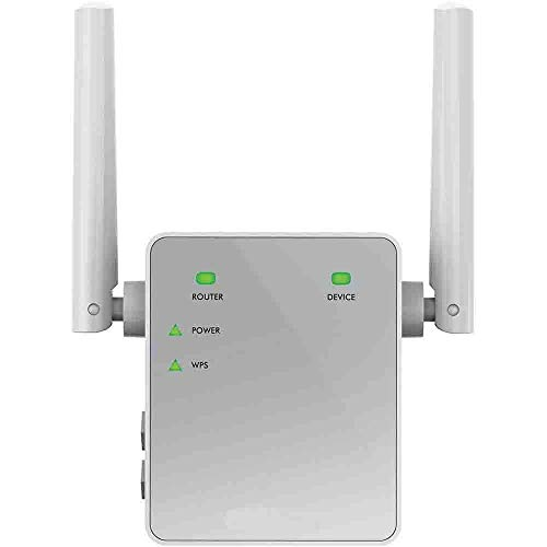 NETGEAR Répéteur Wifi EX3700 (Amplificateur Wifi) AC750 Dual band, supprimez les Zones mortes, jusqu'à 90m2 et 15 appareils, boost et répète le signal jusqu'à 750 Mbps, format prise murale compact