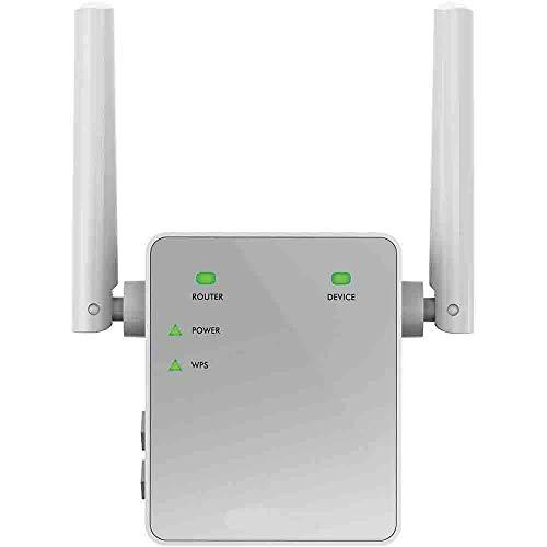 Netgear EX3700-100PES Ripetitore Wifi 750 Mbps, Wifi Extender e Access Point Dual Band, Porta Lan, Amplificatore Wifi Compatibile con Modem Fibra e Adsl, Argento