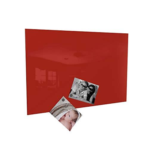 Colours-Manufaktur Magnettafel inkl. Magnete - in 4 Verschiedene Größen und 18 (rot, 40 x 60 cm)