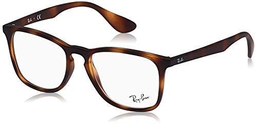 Ray-Ban Unisex-Erwachsene 0rx 7074 5365 52 Brillengestell, Braun (Rubber Havana)
