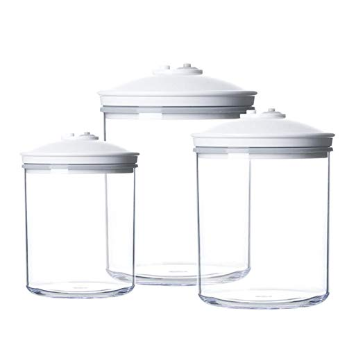 QYT-Transparent Juego de recipientes rectangulares para Alimentos (0.75L,1.42L,2.40L), sin BPA, Ahorra Espacio, herméticas, a Prueba de Fugas