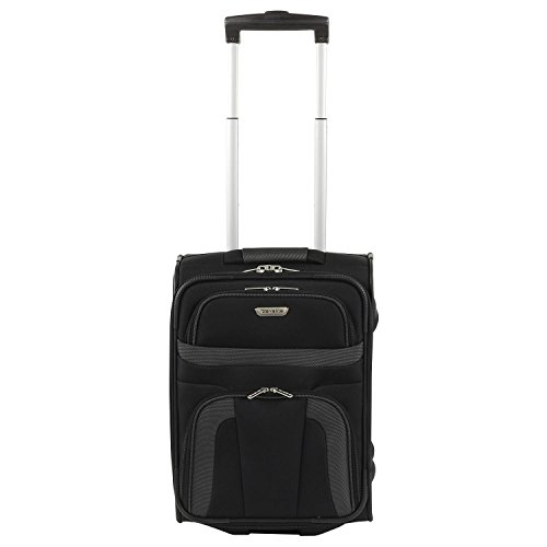 Travelodge Lite Orlando 2-ruoli-Kabinentrolley XS 46 cm, nero (Nero) - 9852601