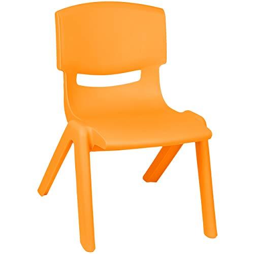 alles-meine.de GmbH Kinderstuhl / Stuhl - Farbwahl - orange - Plastik - bis 100 kg belastbar / kippsicher - für INNEN & AUßEN - 0 - 99 Jahre - stapelbar - Garten - Kindermöbel fü..