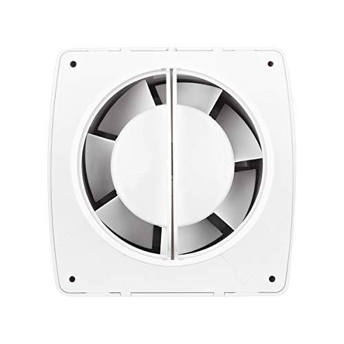 Badlüfter 100 mm Abluftventilator mit Feuchtigkeitssensor Timer und Rückstauklappe 100 m³/h 32 dB IPX4 4
