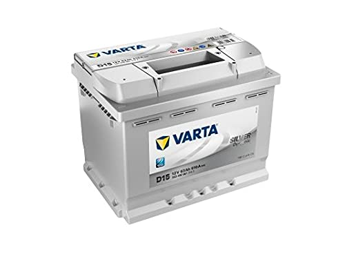 Varta D15 Silver Dynamic, 64Ah 12V Autobatterie für die Mercedes C-Klasse (W203) C230 Benzin - auch für andere Fahrzeuge geeignet