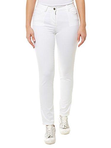 Stefanel Pantalone Skinny Tinto Capo, Bianco 0050, 40 Donna