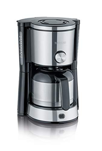 SEVERIN KA 4845 Type Switch Kaffeemaschine (Für gemahlenen Filterkaffee, 8 Tassen, Inkl. Thermokanne) edelstahl/schwarz
