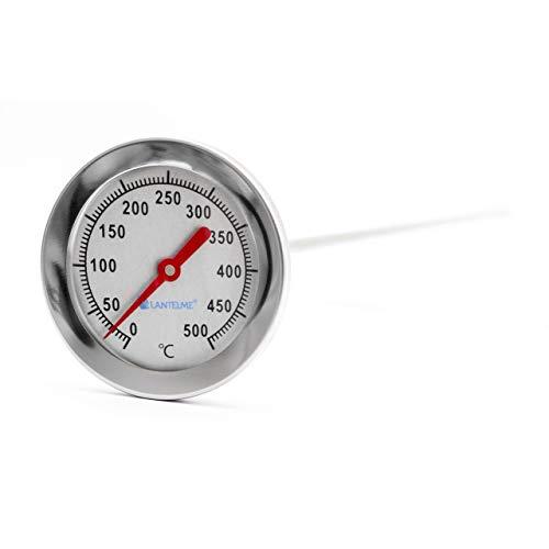 Lantelme 500 °C Thermometer mit 50 cm Sonde für Backofen und Pizzaofen aus Edelstahl mit analog Temperaturanzeige 3114