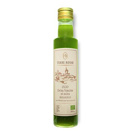 Terre Rosse - Olio Extravergine di Oliva Italiano Biologico Spremuto a Freddo - Monocultivar Moraiolo - Certificazione Kosher/P - Edizione Limitata Campagna Olearia 2020 - 1 Bottiglia da 500 ml