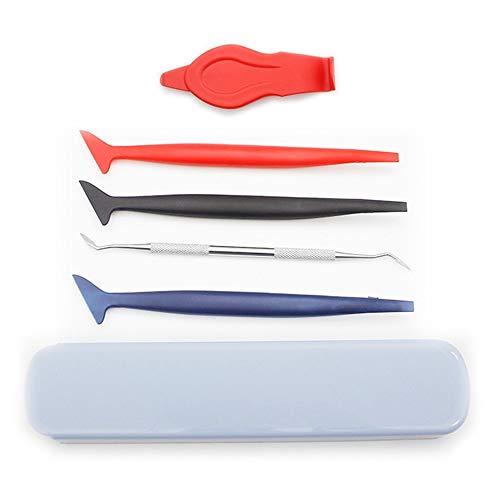 AILOVA 5PCS Car Vinyl Wrap Tool Kit, flexibel Micro Squeegee Curves Slot Werkzeugset für die Installation von Auto Wraps und Auto Aufkleber(Farbe der Packbox zufällig)