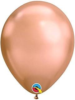 بالونات كوالتكس 28 سم من اللاتكس بلون وردي ذهبي من الكروم