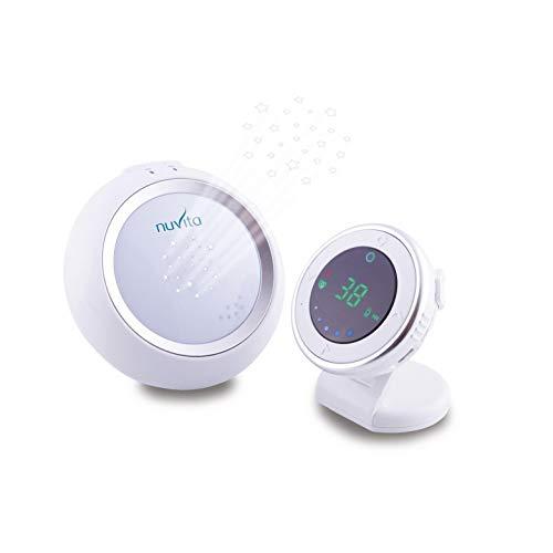 Nuvita 3015 Starry - Baby Monitor Audio – Compatibile con Nuvita 3015 Mat – Proiettore Luce Notturna - Temperatura Ambiente – Funzione Talk Back Bidirezionale – Design Italiano