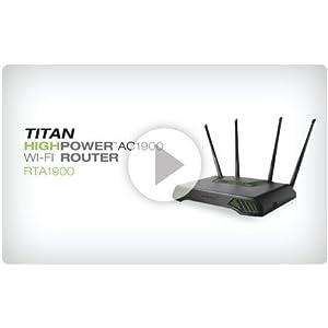 RTA1900 - AMPED WIRELESS RTA1900 WiFi Router RTA1900 Amped Wireless RTA1900 Titan High Power AC1900 Wi-Fi Router