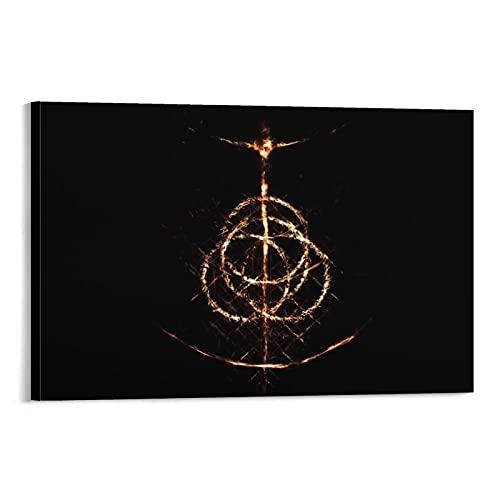 AMNF Poster abstrait Elden Ring Dark Souls Poster décoratif sur toile pour salon, chambre à coucher 50 x 75 cm