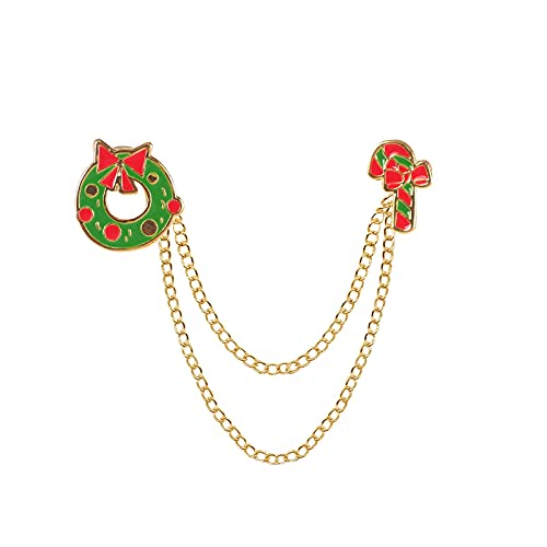 COLORFULTEA Christmas Female Brooch Cute Theme Garland Color Candy Chain Accessories Fashion Simple Temperament Girl Jewelry Gift