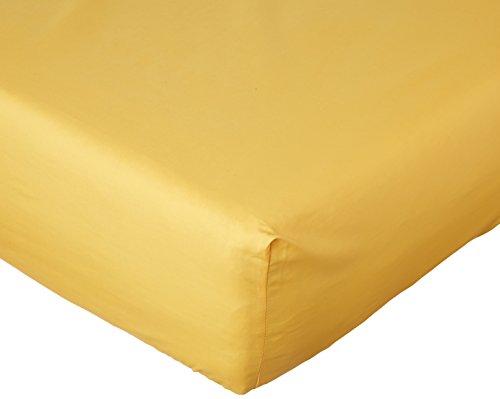 ESSIX Drap Housse uni, Coton, Jonquille, 90x190 cm