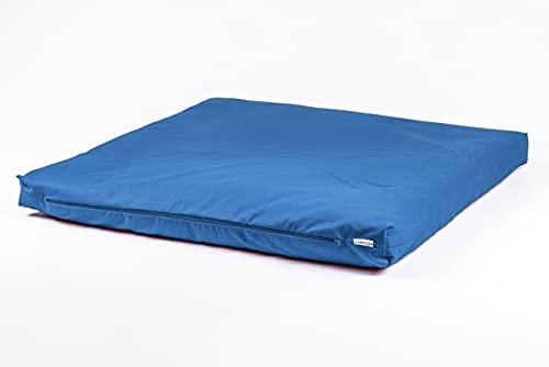 STAYOGA Zabuton de meditación Azul. Diseñado para Usarlo Junto a un cojín de...