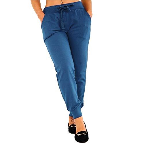 TOOGOO Pantalones de fitness elástico cinturón oto?o cuerda de mujer Pantalones de chándal gimnasia deportivaos de yoga informal Pantalones Tama?o extra grande Azul Claro 5Xl
