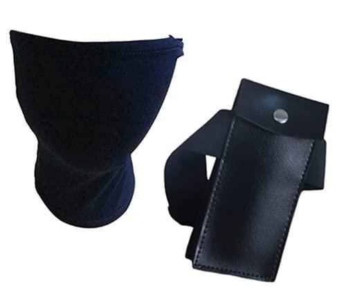 Ninja Kakashi Blue Mask Veil and Ninja Kunai Bag Black Cosplay...