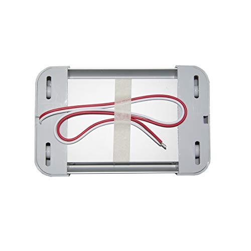 Raycharm 18.2 Inch 12-24V 13.9W 1390 Lumen 6000K LED Light Fixture in Grey for RV 1 Pack