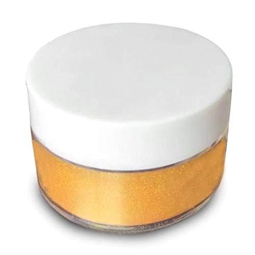Brussel - 1 bottiglia da 5 g, commestibile, glitterata, color oro, in polvere, per torte, biscotti, commestibili, per decorare la polvere