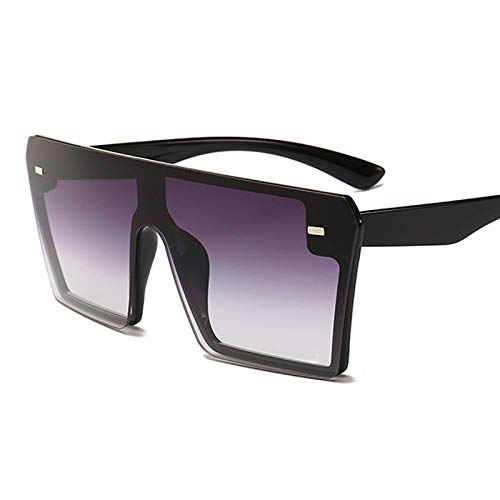 ShSnnwrl Único Gafas de Sol Sunglasses Gafas De Sol Cuadradas De Gran Tamaño para Mujer, Moda De Lujo, Parte Superior Plana, Rojo