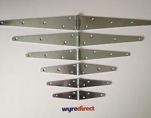 Qazxsw Cerniere Wyre Direct 2X per Cinturino, Cerniera per cancello a T zincato 12'(300 mm