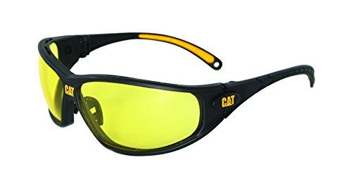 Caterpillar Tread Gafas de seguridad negro y amarillo