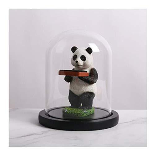 Kyydod Statues Support d affichage de la Montre Panda, Ornements de Plateau d animaux, Porte-Bijoux de la Montre (Color : C)