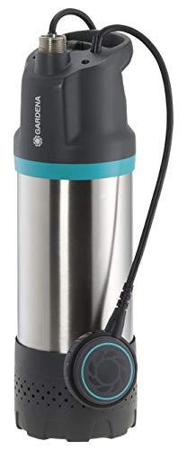 GARDENA Tauch-Druckpumpe 5900/4 inox: Tauchdruckpumpe mit 5900 l/h Fördermenge, mit Schmutzfilter, geräuscharmer Betrieb, Trockenlaufsicherung über Schwimmschalter (1768-20)
