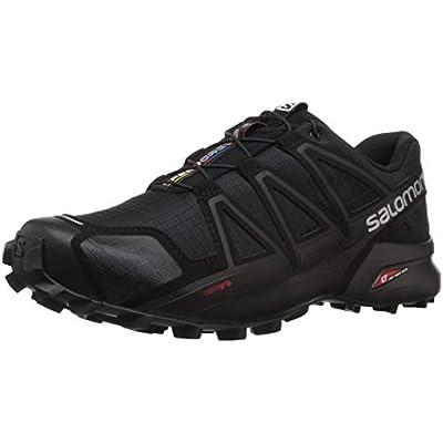 Salomon Speedcross 4, Zapatillas de Trail Running Hombre, Negro (Black/Black/Black Metallic), 40 2/3 EU
