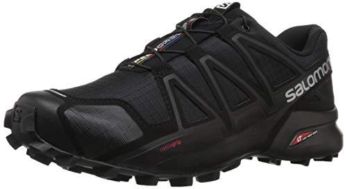 Salomon Speedcross 4, Zapatillas de Trail Running para Hombre, Negro (Black/Black/Black Metallic), 45 1/3 EU