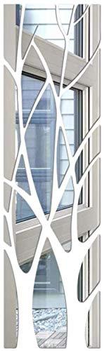 3D Acryl Spiegel Aufkleber Wandaufkleber Bäume mit Branchen DIY Wandaufkleber Home Decor für Schlafzimmer Wohnzimmer Badezimmer Dekoration (Baum)