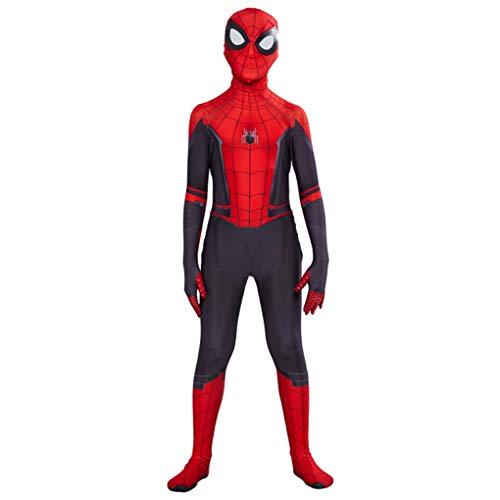 Costumi per bambini adulti Spider-Man Cosplay Anime Superhero vestito operato di travestimento tuta prestazioni Outfits Halloween Unitard regali di compleanno,Far From Home-Adults/L(170~175CM)