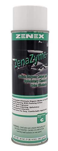 Zenex ZenaZyme Active Enzyme Carpet and Upholstery Cleaner & Odor Eliminator - Inverted Spray, Green, Fresh, 20 Oz (Model: 493905-1)