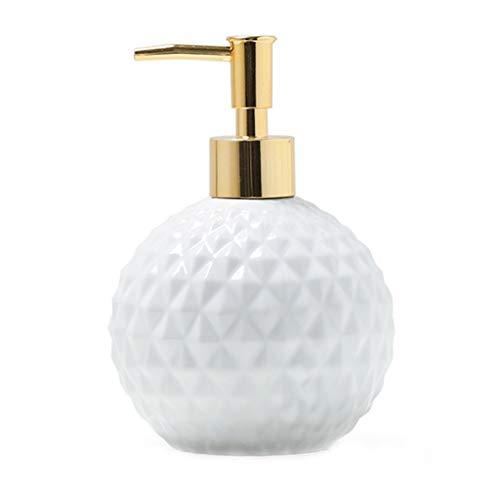 ZAZA dispensador de loción Conjunto De Accesorios De Baño De Cerámica Blanca Conjunto De Baño Geométrico De 3/4/5 Piezas Incluye Bomba De Dispensador Bomba de Ducha (Color : Soap Dispenser)