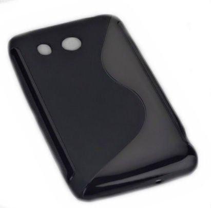 Design Rubber Silikon TPU Case in Schwarz kompatibel mit Huawei Ascend G525 – Handy Cover Hülle Schale