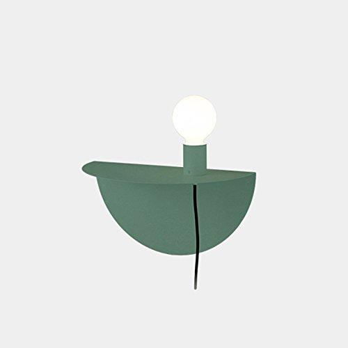 Appliques murales en fer à la mode, Applique murale minimaliste moderne LED pour enfants Nordic Living Room Allée Table murale (Color : Green)