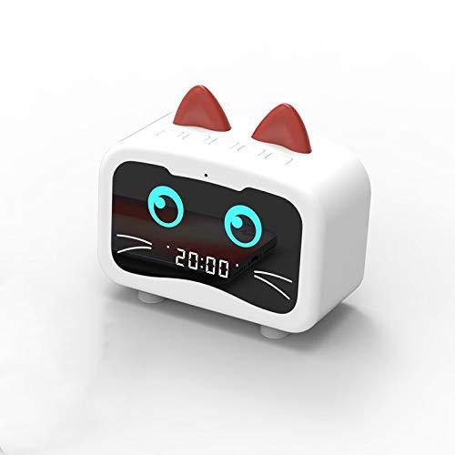 2REMISE Elf Wecker Bluetooth Audio Mit Radio Karte Cartoon Niedlichen Haustier Led Spiegel Wecker Bluetooth Audio